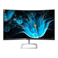 """Philips E-line 328E9FJAB - LED Computer Monitor with TV tuner - curved - 32"""" (31.5"""" viewable) - 2560 x 1440 1440p (Quad HD) - VA - 250 cd/m² - 3000:1 - 5 ms - HDMI, VGA, DisplayPort - speakers - gloss black bezel with silver trim"""