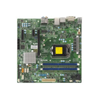 SUPERMICRO X11SSQ-L - Motherboard - micro ATX - LGA1151 Socket - H110 - USB 3.0 - Gigabit LAN - onboard graphics (CPU required) - HD Audio (8-channel) - for SC731; SC732; SC823M; SC825