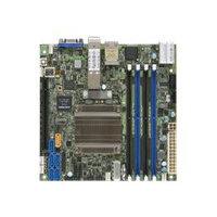 SUPERMICRO X10SDV-16C-TLN4F+ - Motherboard - mini ITX - Intel Xeon D-1587 - USB 3.0 - 2 x 10 Gigabit LAN, 2 x Gigabit LAN - onboard graphics