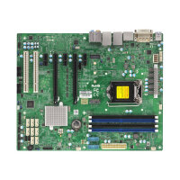 SUPERMICRO X11SAE - Motherboard - ATX - LGA1151 Socket - C236 - USB 3.0, USB 3.1 - 2 x Gigabit LAN - onboard graphics (CPU required) - HD Audio (8-channel)