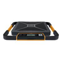 DYMO S180 - Postal scales - capacity: 180 kg / 400 lbs - graduation: 200 g - 30 cm x 30 cm - wired display - black/orange