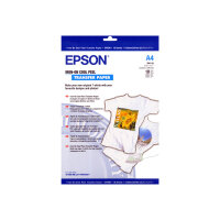 Epson Cool Peel T-Shirt - A4 (210 x 297 mm) 10 pcs. iron-on transfers - for Expression Home HD XP-15000; Expression Premium XP-540, 6000, 6005, 900; WorkForce WF-3620