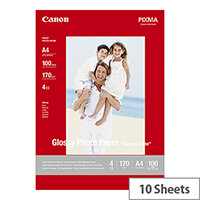 Canon GP-501 - Glossy - 100 x 150 mm - 170 g/m² - 10 sheet(s) photo paper - for PIXMA iP5300, iP90, mini260, MP180, MP490, MP510, MP550, MP560, MP600, MP810, MP960, MX330