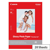 Canon GP-501 - Glossy - white - A4 (210 x 297 mm) 20 sheet(s) photo paper