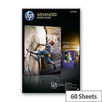 HP Advanced Glossy Photo Paper - Glossy - 10.5 mil - 100 x 150 mm - 250 g/m² - 60 sheet(s) photo paper - for Deskjet Ink Advantage 5275; Envy 5055, 76XX, Photo 7858; Ink Tank 319; Officejet 5255