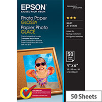 Epson - Glossy - 102 x 152 mm - 200 g/m² - 50 sheet(s) photo paper - for Expression Home HD XP-15000; Expression Photo HD XP-15000; WorkForce WF-7720