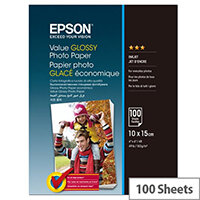 Epson Value - Glossy - 100 x 150 mm - 183 g/m² - 100 sheet(s) photo paper - for Epson L382, L386, L486; Expression Home HD XP-15000; Expression Premium XP-900
