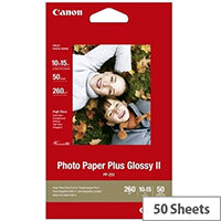 Canon Photo Paper Plus Glossy II PP-201 - Glossy - 100 x 150 mm - 260 g/m² - 50 sheet(s) photo paper - for PIXMA iP2600, iP2700, iP3500, iX7000, MG2555, MG8250, mini320, MP520, MX7600, MX850