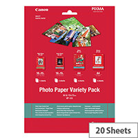 Canon Variety Pack VP-101 - 20 sheet(s) photo paper kit - for PIXMA MG2550, MG3550, MG3650, MG5750, MG5751, MG6450, MG6850, MG7150, MG7750, MG7751