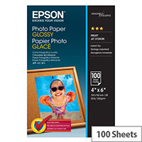 Epson - Glossy - 102 x 152 mm - 200 g/m² - 100 sheet(s) photo paper - for Expression Home HD XP-15000; Expression Photo HD XP-15000; WorkForce WF-7720