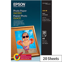 Epson - Glossy - A4 (210 x 297 mm) - 200 g/m² - 20 sheet(s) photo paper - for Expression Home HD XP-15000; Expression Photo HD XP-15000; WorkForce WF-7720