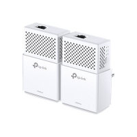TP-Link AV1000 - Gigabit Powerline Starter Kit - bridge - GigE, HomePlug AV (HPAV), HomePlug AV (HPAV) 2.0, IEEE 1901 - wall-pluggable