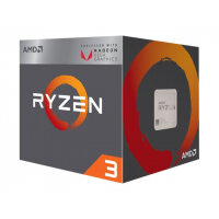 AMD Ryzen 3 2200G - 3.5 GHz - 4 cores - 4 threads - 2 MB cache - Socket AM4 - Box