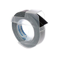 DYMO - Self-adhesive - black - Roll (0.9 cm x 3 m) 1 roll(s) 3D embossing tape - for DYMO Junior embosser