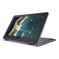 "ASUS Chromebook Flip C213NA BU0033 - Flip design - Celeron N3350 / 1.1 GHz - Chrome OS - 4 GB RAM - 32 GB eMMC - 11.6"" touchscreen 1600 x 900 (HD+) - HD Graphics 500 - 802.11ac, Bluetooth - grey, dark grey"