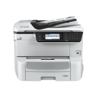 Epson WorkForce Pro WF-C8690DWF - Multifunction printer - colour - ink-jet - A3/Ledger (media) - up to 22 ppm (copying) - up to 35 ppm (printing) - 335 sheets - 33.6 Kbps - Gigabit LAN, USB host, NFC, USB 3.0, USB 2.0 host, Wi-Fi(ac)