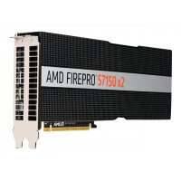 AMD FirePro S7150 x2 - Graphics card - 2 GPUs - FirePro S7150 - 16 GB GDDR5 - PCIe 3.0 x16 - fanless