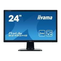 "Iiyama ProLite B2482HS-B1 - LED monitor - 24"" (24"" viewable) - 1920 x 1080 Full HD (1080p) - TN - 250 cd/m² - 1000:1 - 1 ms - HDMI, DVI, VGA - speakers - black"