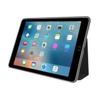 Incipio CLARION SHOCK ABSORBING TRANSLUCENT FOLIO - Flip cover for tablet - thermoplastic polyurethane - black - for Apple 9.7-inch iPad Pro