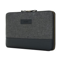 Incipio Esquire Series CARNABY ESSENTIAL - Protective sleeve for tablet - smooth leather - black - for Microsoft Surface Pro (Mid 2017)