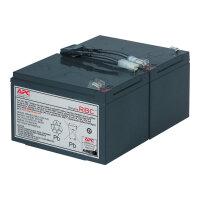 APC Replacement Battery Cartridge #6 - UPS battery Lead Acid - black - for P/N: DLA1500J, SMC1500, SMC15000I, SMT1000, SMT1000I, SMT1000US, SU1000RMI, SUA1000ICH