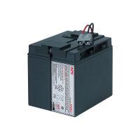 APC Replacement Battery Cartridge #7 - UPS battery - 1 x Lead Acid - black - for P/N: SMT1500, SMT1500I, SMT1500TW, SMT1500US, SU1400I, SU700XLI, SUA1500ICH-45, SUVS1400I