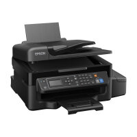 Epson EcoTank ET-4500 - Multifunction printer - colour - ink-jet - A4/Legal (media) - up to 33 ppm (printing) - 100 sheets - 33.6 Kbps - USB, LAN, Wi-Fi