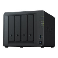 Synology Disk Station DS918+ - NAS server - 4 bays - SATA 6Gb/s / eSATA - RAID 0, 1, 5, 6, 10, JBOD - RAM 4 GB - Gigabit Ethernet - iSCSI