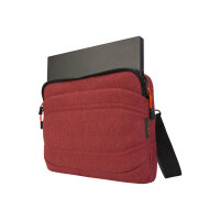 """Targus Groove X2 Slimcase - Notebook carrying case - 13"""" - dark coral"""