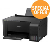 Epson EcoTank ET-2710 - Multifunction printer - colour - ink-jet - A4/Legal (media) - up to 33 ppm (printing) - 100 sheets - USB, Wi-Fi - black