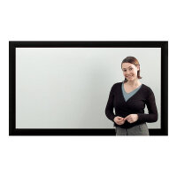 Eyeline Frame Screen - Projection screen - wall mountable - 72 in (183 cm) - 16:9 - Matte White - black