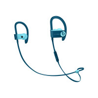 Beats Powerbeats3 - Beats Pop Collection - earphones with mic - in-ear - over-the-ear mount - Bluetooth - wireless - noise isolating - pop blue - for 10.5-inch iPad Pro; 9.7-inch iPad; 9.7-inch iPad Pro; iPhone 7, 8, X, XR, XS, XS Max