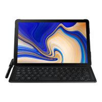 Samsung Book Cover Keyboard EJ-FT830 - Keyboard and folio case - POGO pin - black - for Galaxy Tab S4