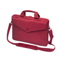 "DICOTA Code SlimCase Laptop Bag 15"" - Notebook carrying case - 15"" - red - for Apple MacBook Pro (15.4 in)"