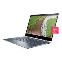 "HP Chromebook x360 14-da0000na - Flip design - Core i3 8130U / 2.2 GHz - Chrome OS - 8 GB RAM - 64 GB eMMC - 14"" IPS touchscreen 1920 x 1080 (Full HD) - UHD Graphics 620 - Wi-Fi, Bluetooth - ceramic white (cover), mist blue ( base and keyboard frame)"