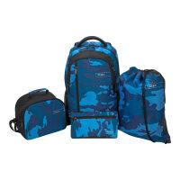 "Targus Sport Backpack set for School - 4-Piece Bundle - notebook carrying backpack - 15.6"" - blue, camo"