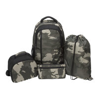 """Targus Sport Backpack set for School - 4-Piece Bundle - notebook carrying backpack - 15.6"""" - green, camo"""