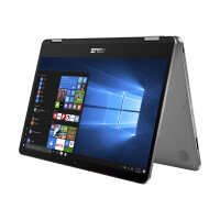 "ASUS VivoBook Flip 14 TP401NA EC007T - Flip design - Pentium N4200 / 1.1 GHz - Win 10 Home 64-bit - 4 GB RAM - 64 GB eMMC - 14"" touchscreen 1920 x 1080 (Full HD) - HD Graphics 505 - 802.11ac, Bluetooth - light metal grey (LCD cover), light grey plast"