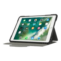 "Targus Pro-Tek Rotating - Flip cover for tablet - rugged - polyurethane - black - 9.7"" - for Apple 9.7-inch iPad (5th generation, 6th generation); 9.7-inch iPad Pro; iPad Air; iPad Air 2"