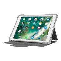 "Targus Pro-Tek Rotating - Flip cover for tablet - rugged - polyurethane - silver - 9.7"" - for Apple 9.7-inch iPad (5th generation, 6th generation); 9.7-inch iPad Pro; iPad Air; iPad Air 2"