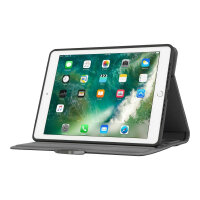 """Targus VersaVu Signature Series - Flip cover for tablet - polyurethane, fabric, faux leather - black - 9.7"""" in - for Apple 9.7-inch iPad (5th generation, 6th generation); 9.7-inch iPad Pro; iPad Air; iPad Air 2"""