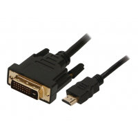 2-Power - Video cable - dual link - HDMI / DVI - HDMI (M) to DVI-D (M) - 1 m - thumbscrews