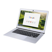 "Acer Chromebook 14 CB3-431-C31R - Celeron N3060 / 1.6 GHz - Chrome OS - 2 GB RAM - 32 GB eMMC - 14"" 1366 x 768 (HD) - HD Graphics 400 - Wi-Fi, Bluetooth - sparkly silver - kbd: UK"