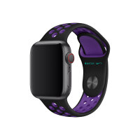 Apple 40mm Nike Sport Band - Watch strap - 130-200 mm - black/hyper grape - demo - for Watch (38 mm, 40 mm)