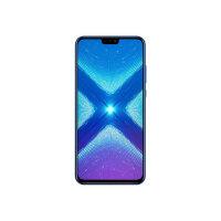 "Honor 8X - Smartphone - dual-SIM - 4G LTE - 64 GB - microSDHC slot, - microSDXC slot - GSM - 6.5"" - 2340 x 1080 pixels (397 ppi) - LTPS IPS - RAM 4 GB (16 MP front camera) - 2x rear cameras - Android - blue"