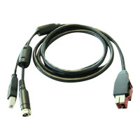 HP - PoweredUSB cable - for ElitePOS G1 Retail System; Engage One; RP3 Retail System; RP9 G1 Retail System