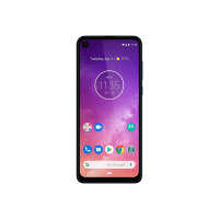 "Motorola One Vision - Android One - smartphone - dual-SIM - 4G LTE - 128 GB - microSDXC slot - GSM - 6.3"" - 2520 x 1080 pixels (432 ppi) - LTPS IPS - RAM 4 GB (25 MP front camera) - 2x rear cameras - Android - sapphire gradient"