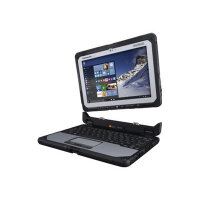 "Panasonic Toughbook 20 - Tablet - with keyboard dock - Core m5 6Y57 / 1.1 GHz - Win 7 Pro (includes Win 10 Pro Licence) - 8 GB RAM - 256 GB SSD - 10.1"" IPS touchscreen 1920 x 1200 - HD Graphics 515 - Wi-Fi, Bluetooth - kbd: British - rugged"