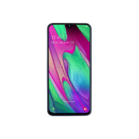 "Samsung Galaxy A40 - Smartphone - dual-SIM - 4G LTE - 64 GB - microSDXC slot - GSM - 5.9"" - 2340 x 1080 pixels (439 ppi) - Super AMOLED - RAM 4 GB (25 MP front camera) - 2x rear cameras - Android - white"