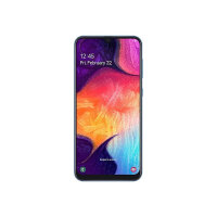 "Samsung Galaxy A50 - Smartphone - dual-SIM - 4G LTE - 128 GB - microSDHC slot, - microSDXC slot - GSM - 6.4"" - 2340 x 1080 pixels (408 ppi) - Super AMOLED - RAM 4 GB (25 MP front camera) - 3x rear cameras - Android - blue"